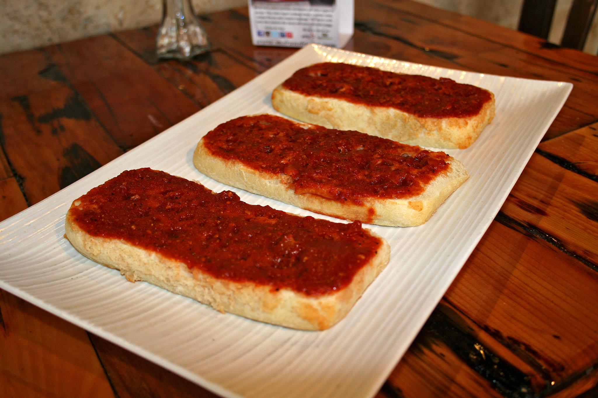 Homemade Focaccia Bread With Our Tangy Tomato Sauce Served Cold Authentic Rhode Island Special